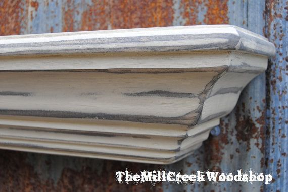 Distressed Wall Shelf 48 Inches Antique By Themillcreekwood 120 00