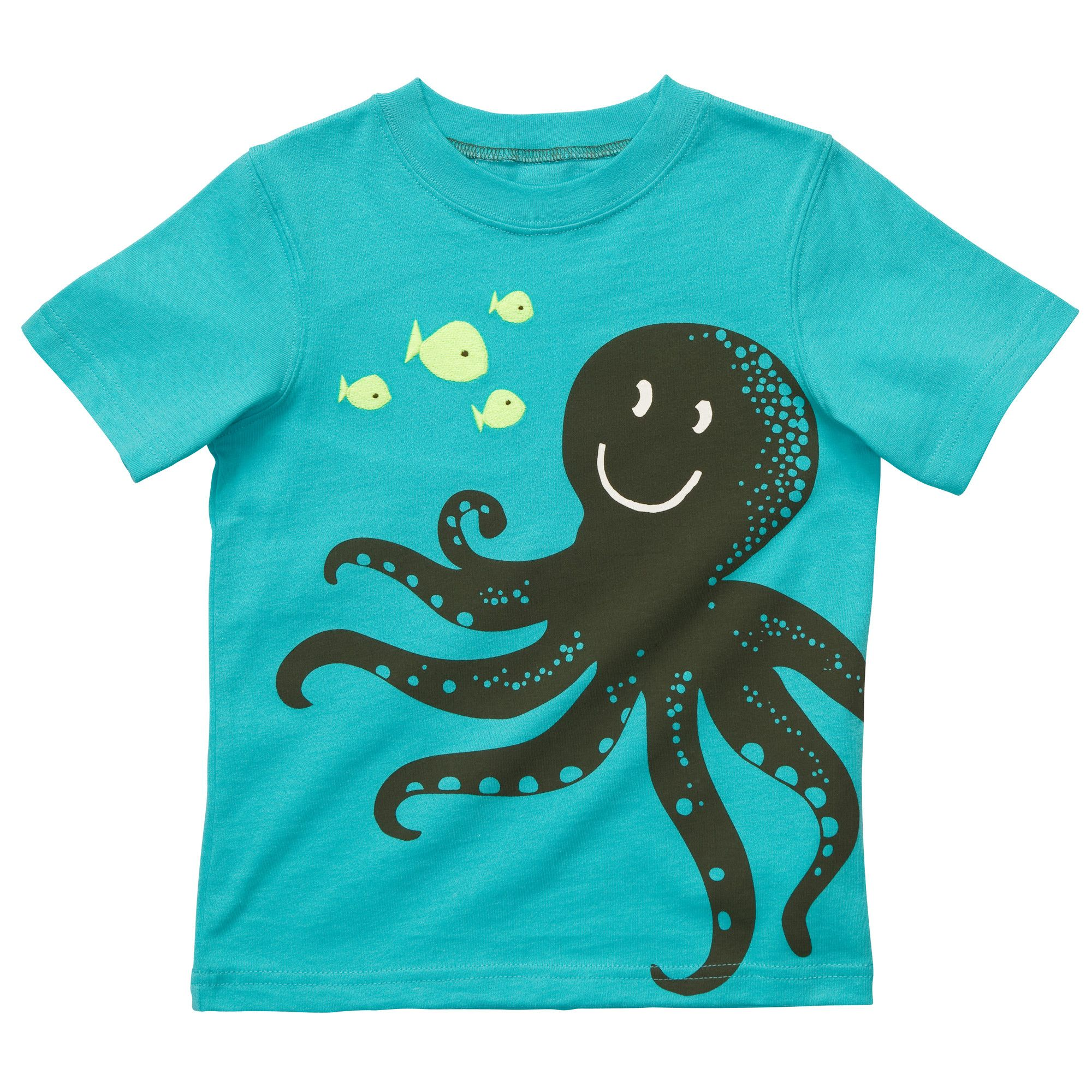 Toddler Short-Sleeve Fashion of Animal Images Graphic Tees