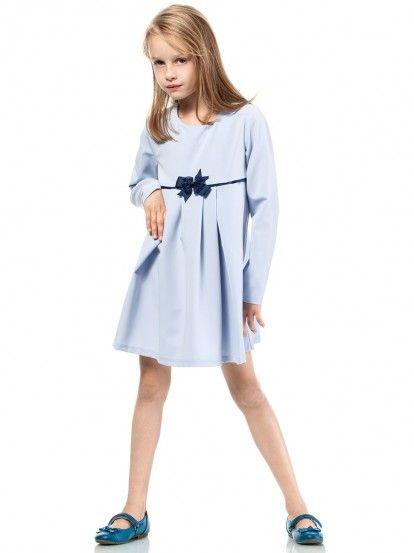 4f829f2e3772 Dječja haljina dugih rukava KIDIN - svijetlo plava Albastru
