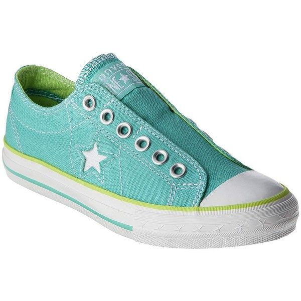 873284ce230d Women s Converse® One Star® DX Laceless Slip-on - Green ( 39) ❤ liked on  Polyvore