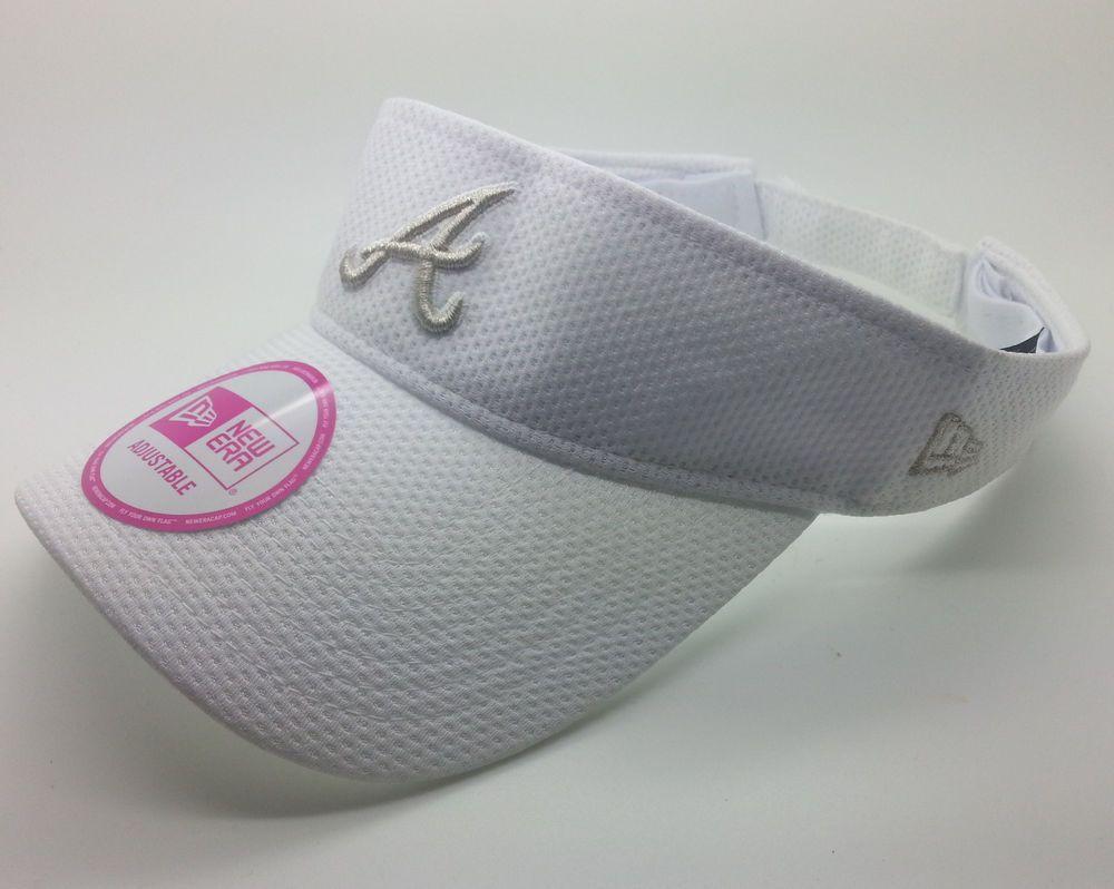 Atlanta Braves Mlb New Era Adjustable White Visor Hat Cap Osfa New Visor Hats Atlanta Braves Visor