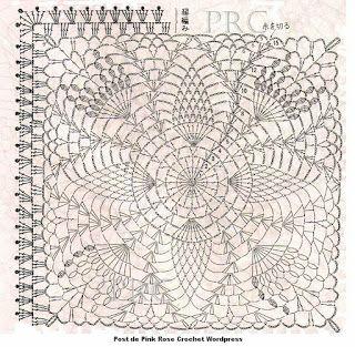 SANDRA PONTOS DE CROCHÊ E TRICÔ...........: Square Pineapple