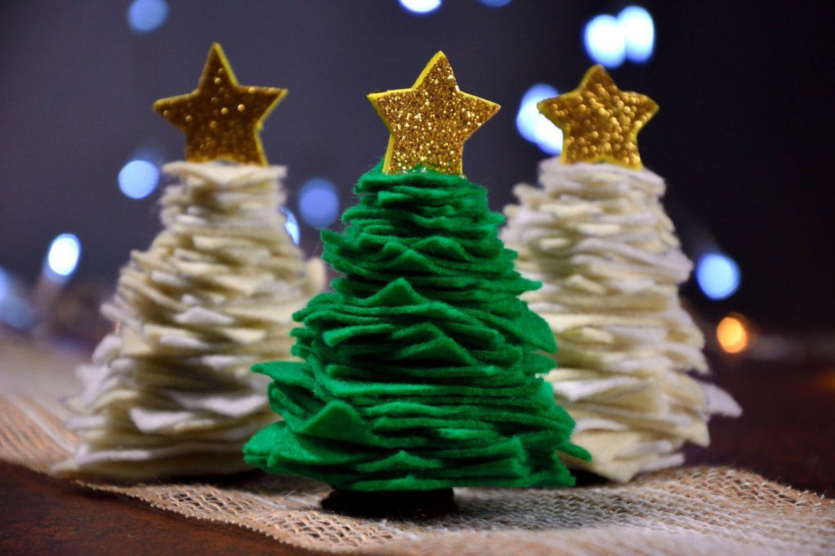Rbol de fieltro navidad arbol de navidad manualidades - Arboles de navidad manualidades navidenas ...