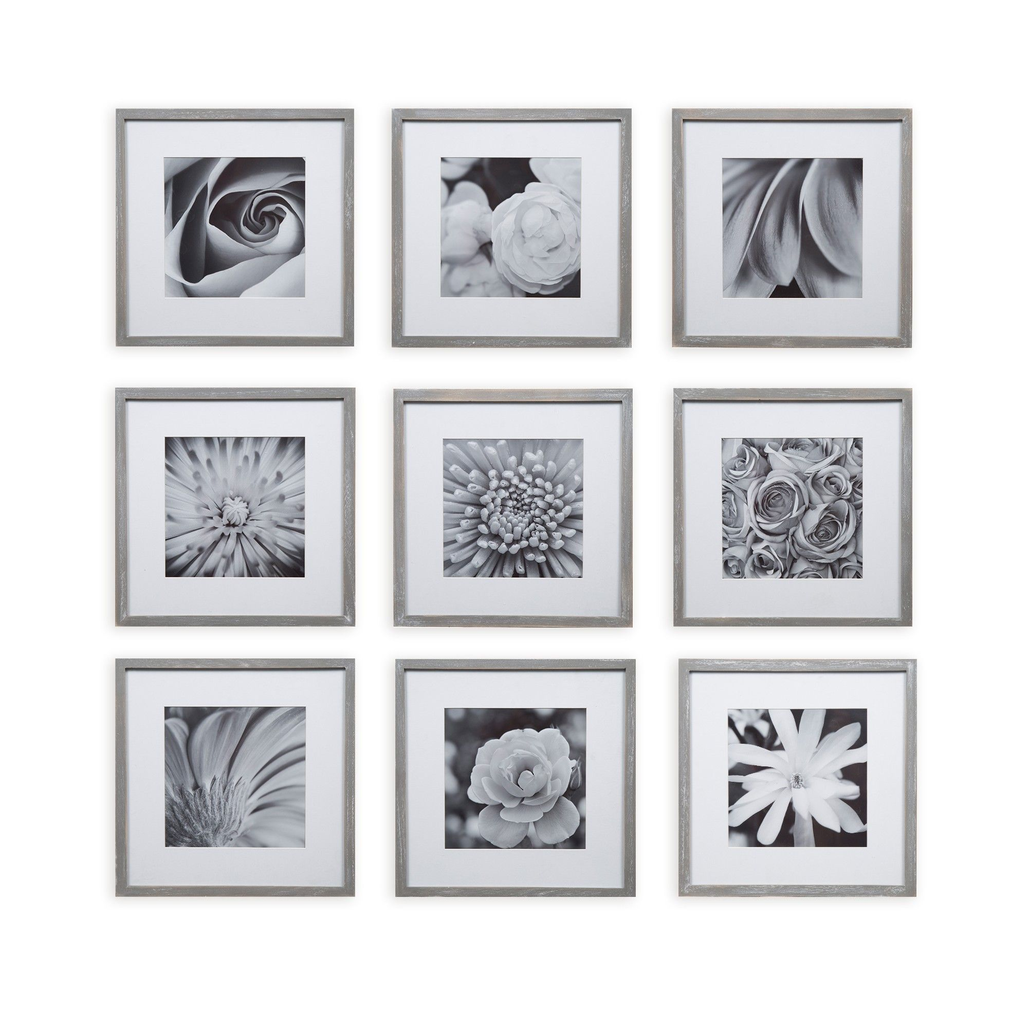8 X 8 9pc Square Photo Wall Gallery Kit Gray Gallery Perfect Frames On Wall Picture Frame Gallery Photo Wall Gallery