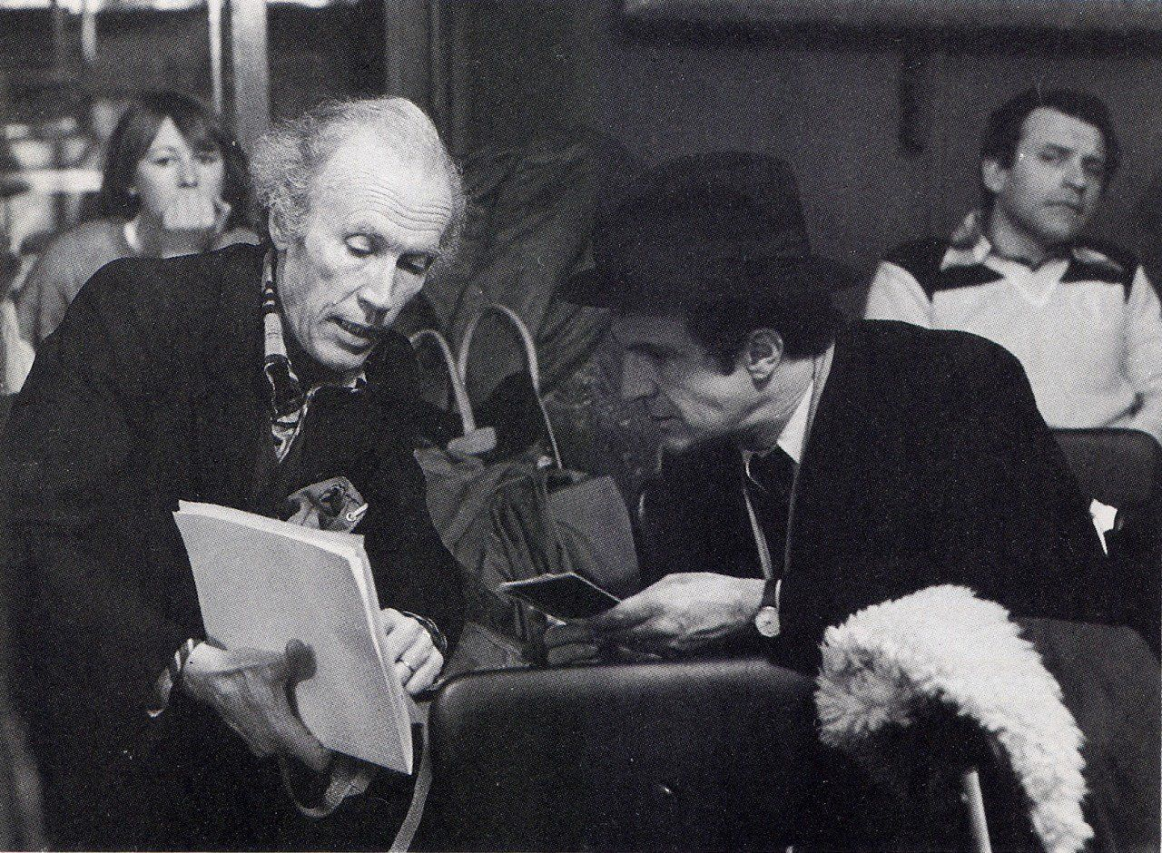 Eric Rohmer and François Truffaut during the filming of La Chambre ...