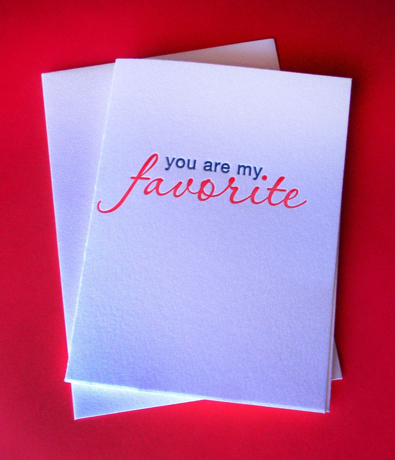 You are my favourite Card. Fun Love card valentines card