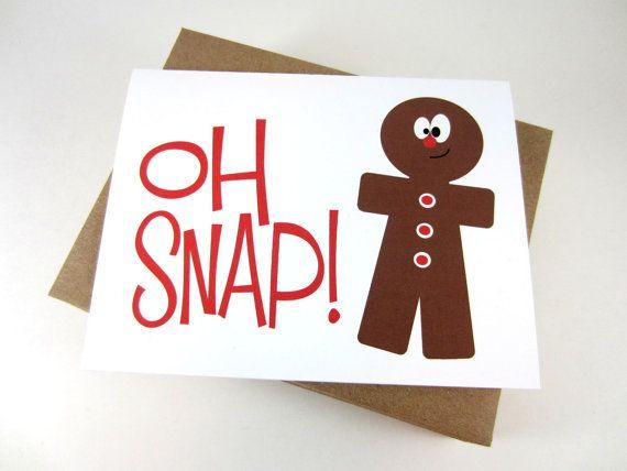 Gingerbread man christmas card funny holiday card cute christmas funny christmas card gingerbread man card unique holiday card single m4hsunfo