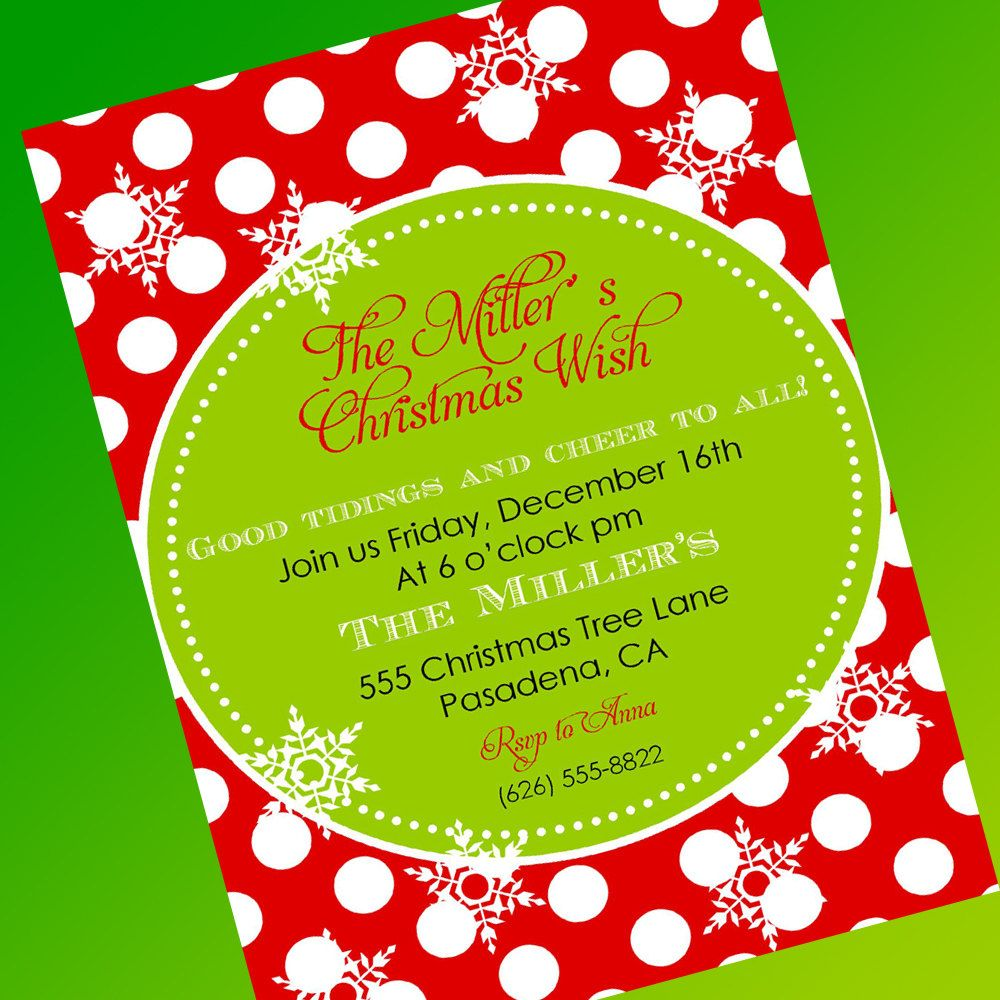 Free Christmas Party Invitation Template Invitations