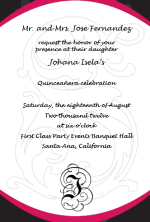 How should i word my quinceanera invitations marital status examples of wording for quinceanera invitations quinceaera invitations template when one parent is deceased stopboris Gallery