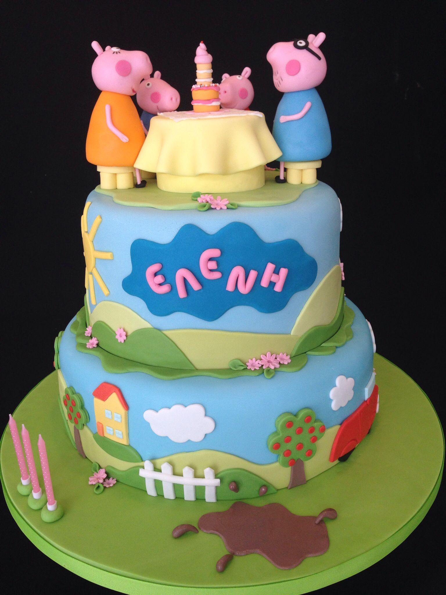 Peppa Pig First Birthday Cake