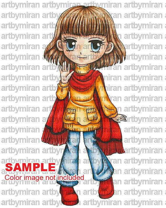 Digital Stamp Loving Autumn Annie 127 Digi Stamp Printable