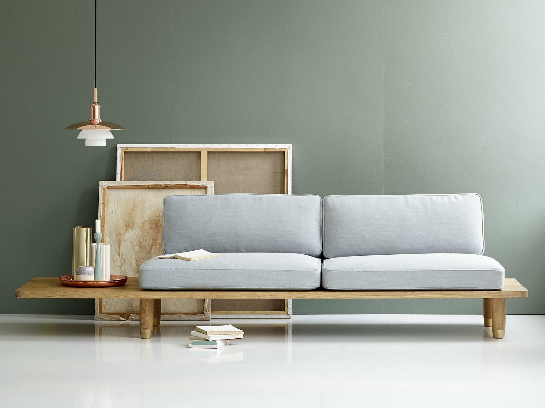 2 Seater Fabric Sofa Plank By Dk3