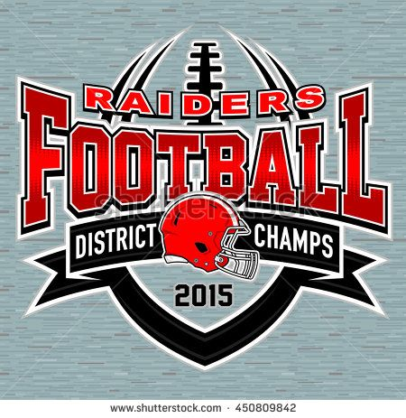District Champs Football T Shirt Graphic Design High