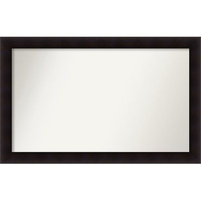 "Red Barrel Studio Rectangle Wood Wall Mirror Size: 32.63"" H x 51.63 W"" x 0.88"" D"