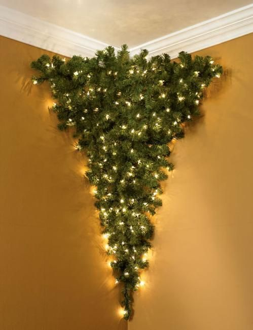 hanging christmas trees create spectacular displays in vintage style to look up to offering practical and space saving ideas for winter holiday decorating