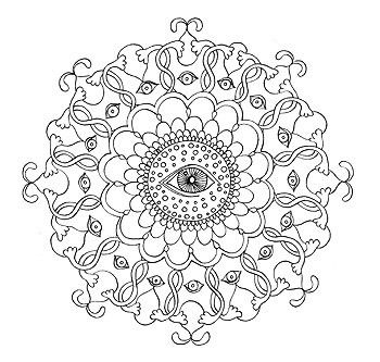 Mandala Coloring Pages 23 Printable PDF Blank By Thaneeya
