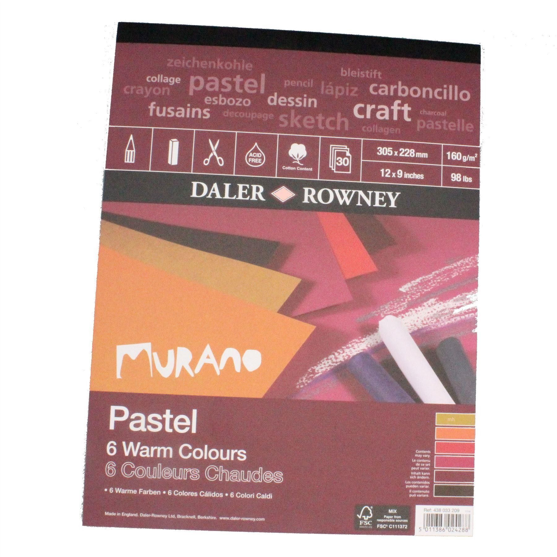 Daler Rowney Murano pad cool neutral or warm 12 Soft