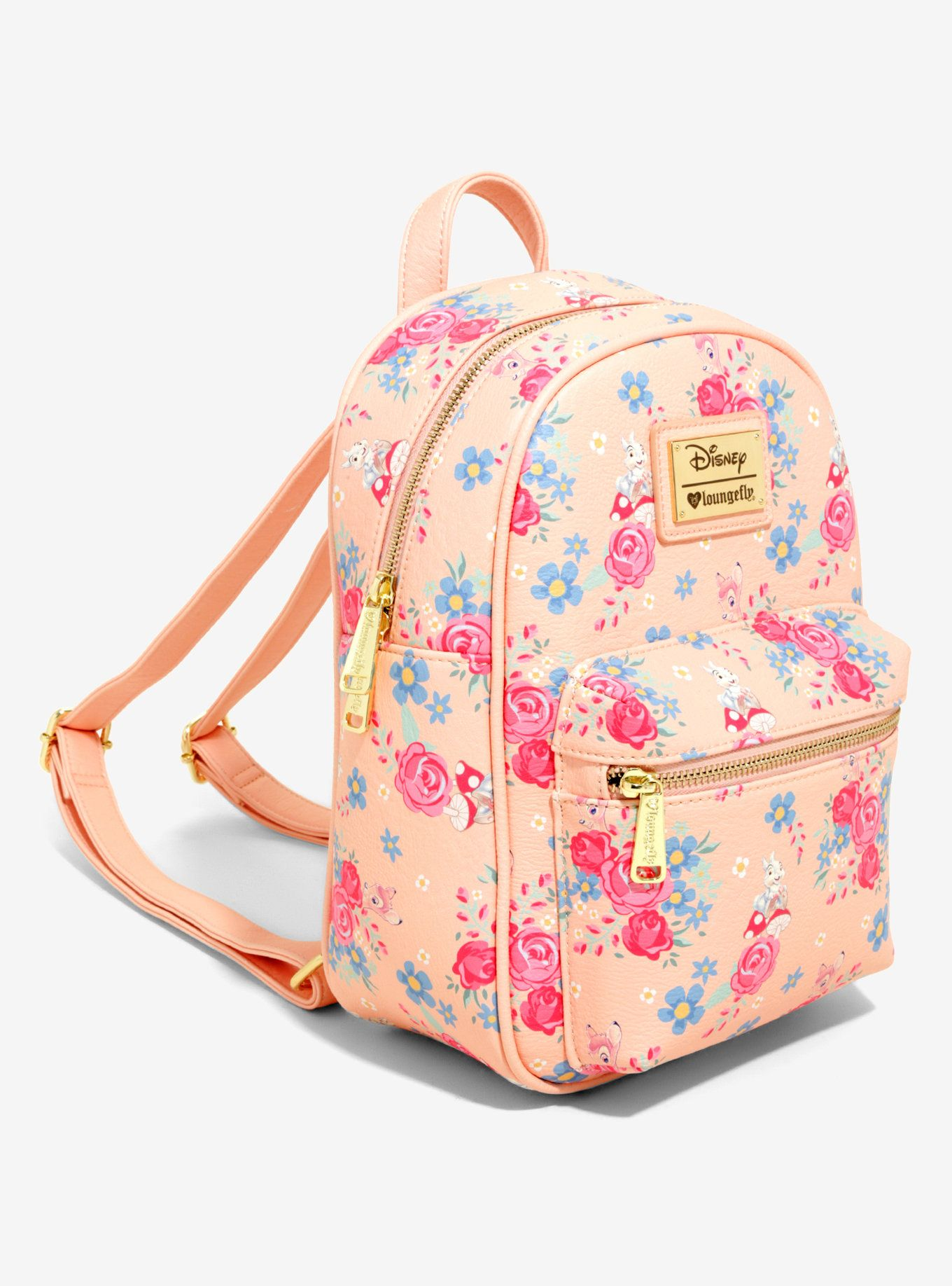 0661605ba40 Loungefly Disney Bambi Floral Mini Backpack - BoxLunch Exclusive ...