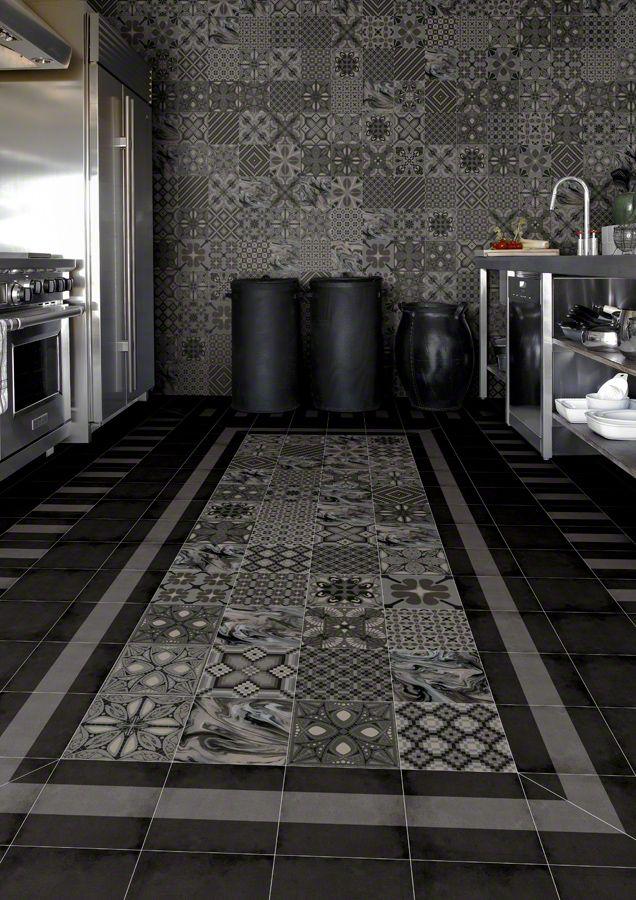 Raumgestaltung mit Bodenfliesen | Bodenfliesen, Moderne küche und Muster