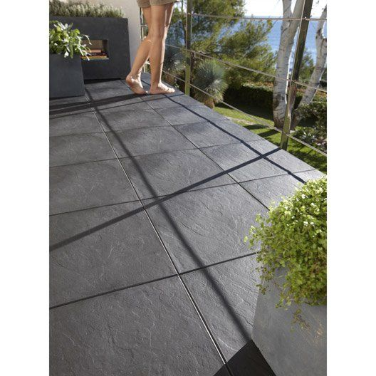 Dalle Clipsable Polypropylene Easy Aspect Ardoise L 38 X L 38 Cm X Ep 25 Mm Garden Tiles Patio Flooring Terrace Floor
