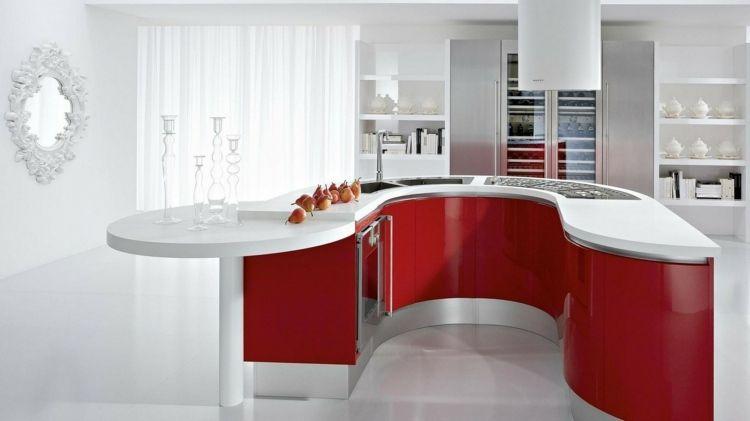 50 idées originales pour la déco cuisine rouge à vous faire découvrir - Photo Cuisine Rouge Et Grise