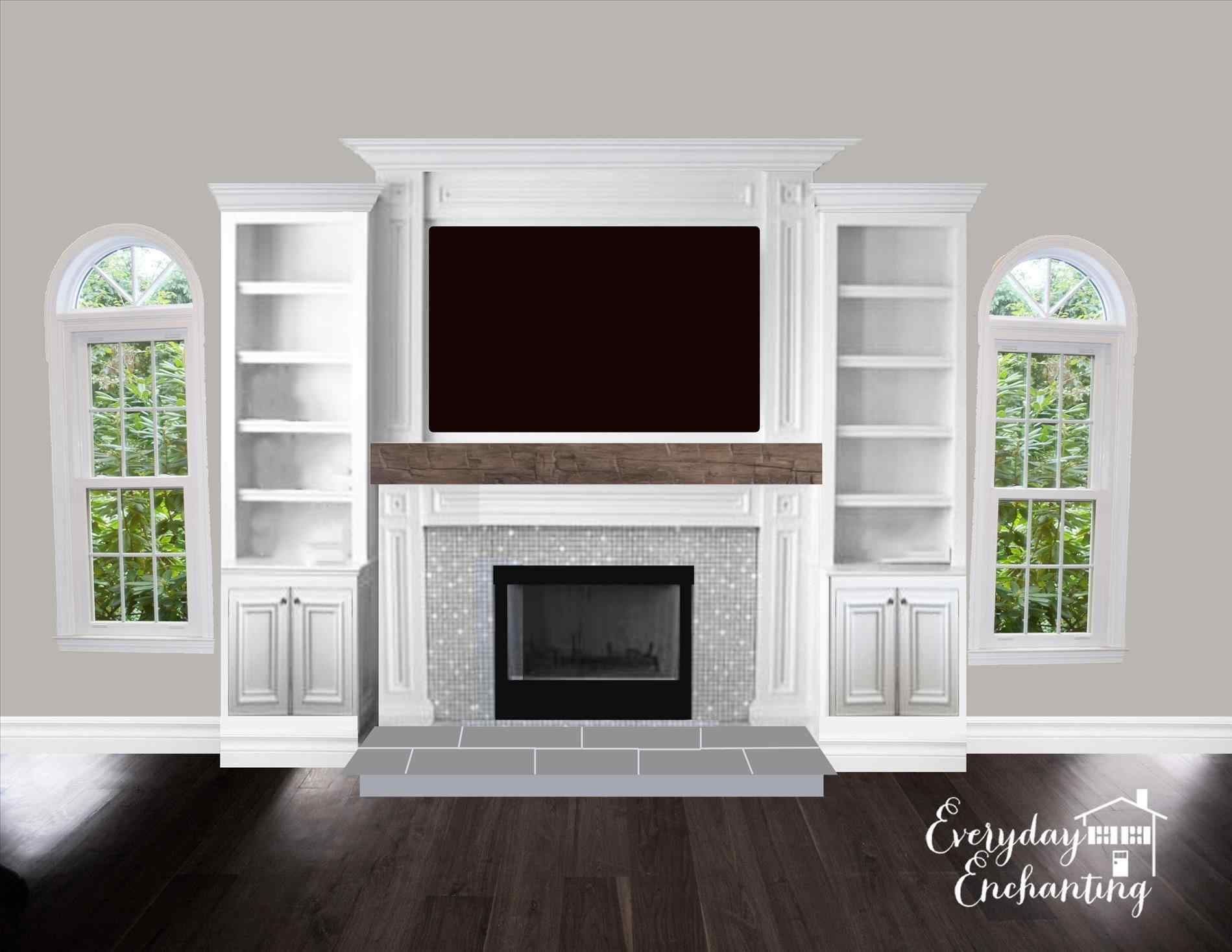 Room Inspiration Entertainment Natural Fireplace With Tv