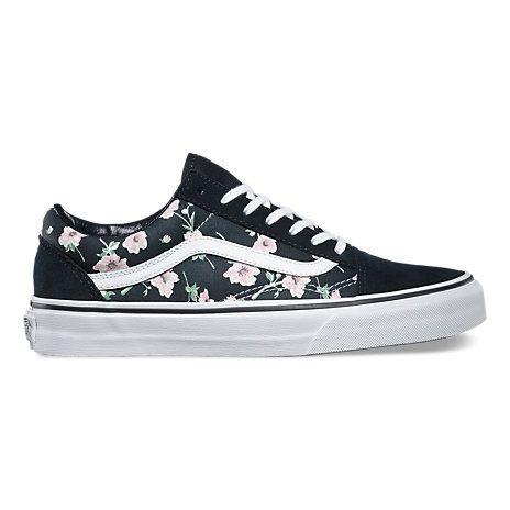 vans con fiori scarpe