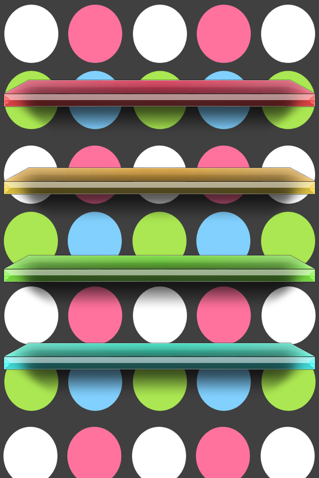 Different Colored Polka Dots Background With Different