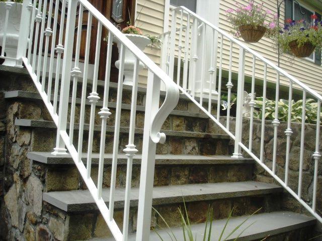White Wrought Iron Railing Porch Steps Wrought Iron Railing
