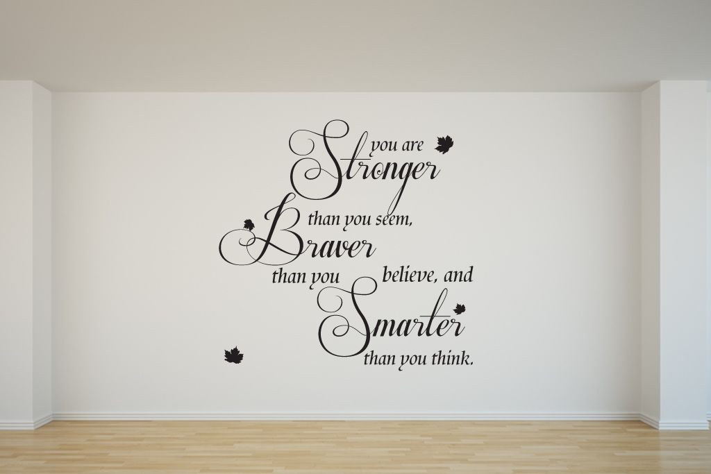 quote from winnie-the-poohyou are stronger wall sticker/decal