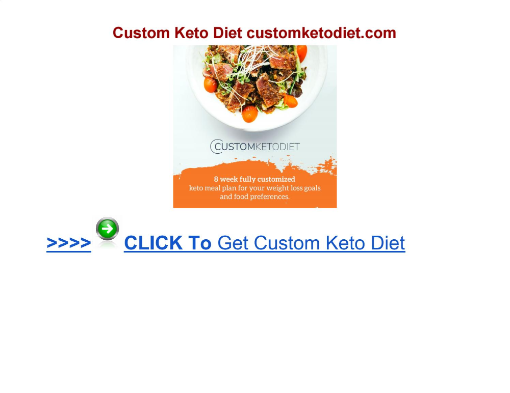 Plan Custom Keto Diet  Hot Deals