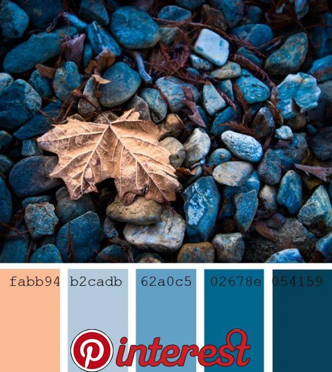 Farbpaletten Blau: Orange Farbpaletten, Farbpalette