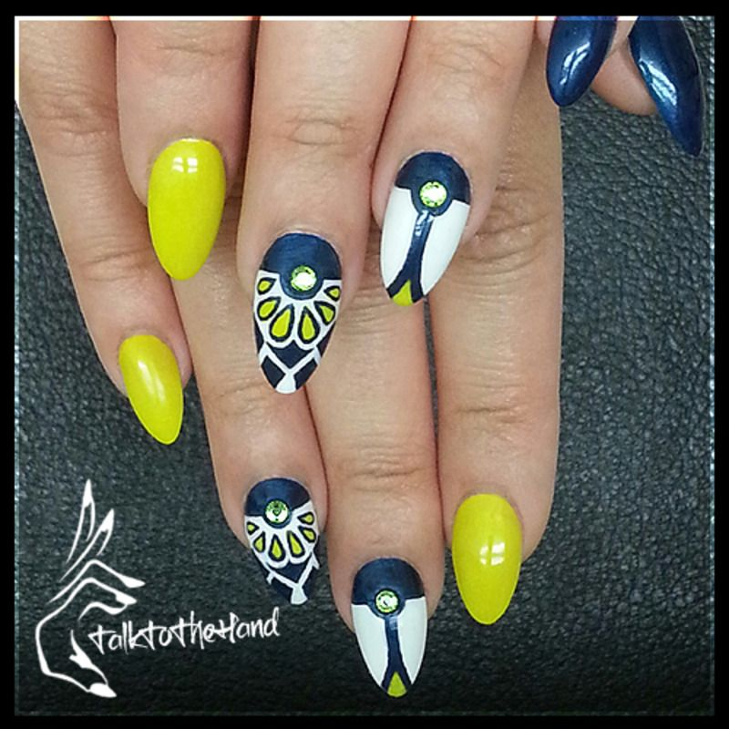 Moschino II nail art by Blu   Lacquer Obsession   Pinterest ...