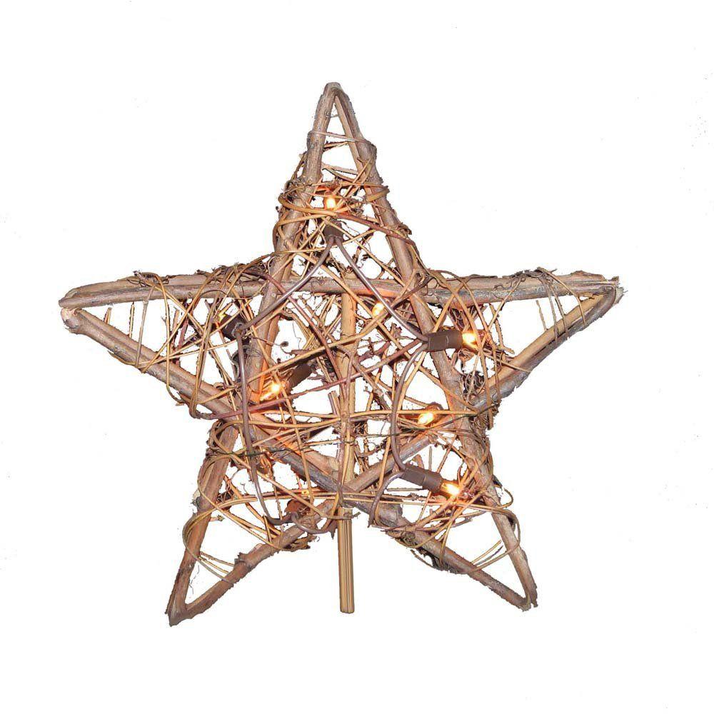Hawaiian Christmas Tree Topper: Amazon.com: Kurt Adler 10 Light Indoor Rattan Natural Star