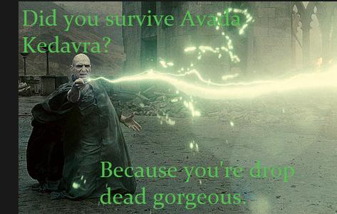 Avada Kedavra Harry Potter Pick Up Line Harry Potter Puns Harry Potter Characters Harry Potter Love