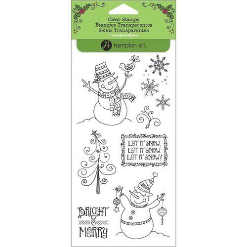 Festive Snowmen Clear Stamps by Hampton Art.