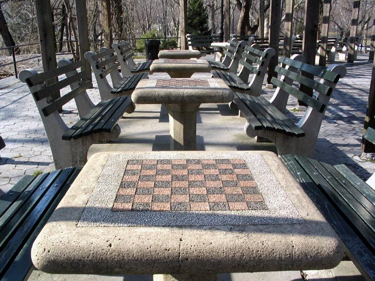 Chess Tables Checkers House Central Park Chess Table