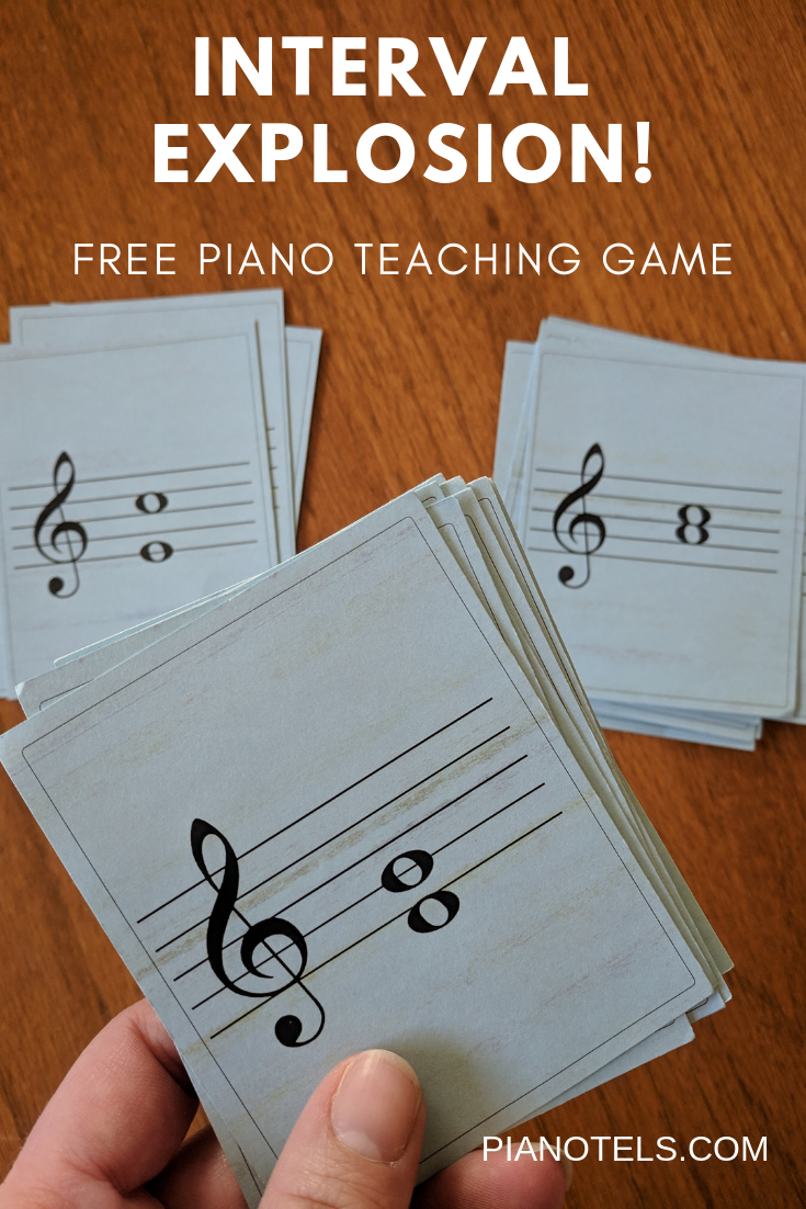 Interval Explosion! Piano teaching games, Teaching game