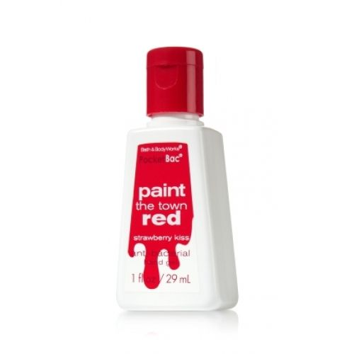 Paint The Town Red Strawberry Kiss Pocketbac Bath Body Works