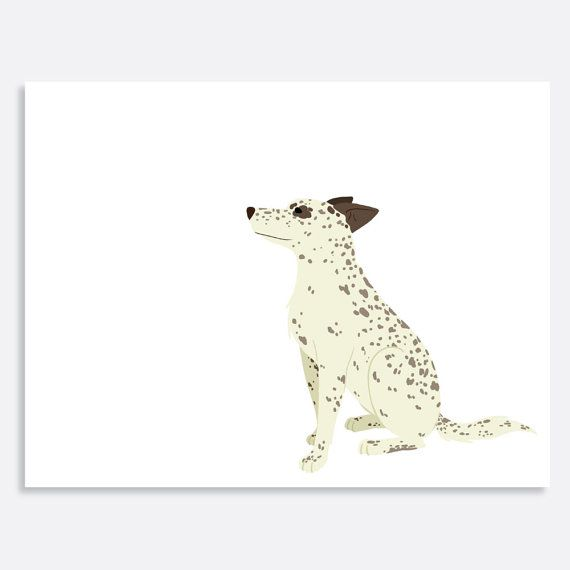 Set of Heeler Mix Note Cards by uluckygirl on Etsy, $20.00