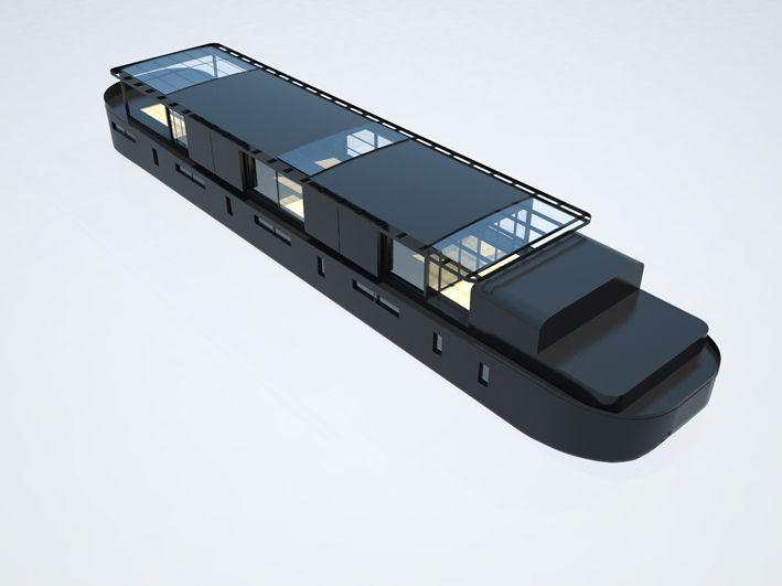 ht2 jumbo sation d une p niche freycinet en bateau logement houseboats pinterest. Black Bedroom Furniture Sets. Home Design Ideas