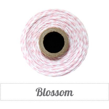 Bakers Twine - Twisted Blossom Pink and White Twine Spool