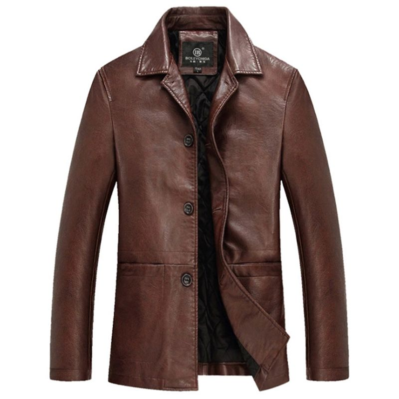 High Quality Thicker Winter Leather Jacket Men Mens Leather Jackets And Coats Veste Cuir Homme Chaqueta
