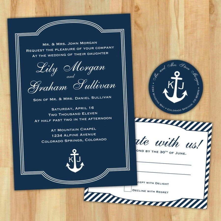 5+ Exclusive Picture of Nautical Wedding Invitation Template