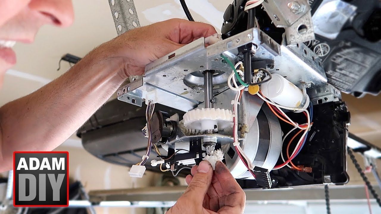 How To Change The Gear And Sprocket In A Garage Door Opener Liftmaster Garage Door Opener Garage Doors Liftmaster