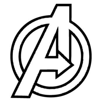 Avengers Logo Sticker Avengers Logo Avengers Coloring Pages Avengers Coloring