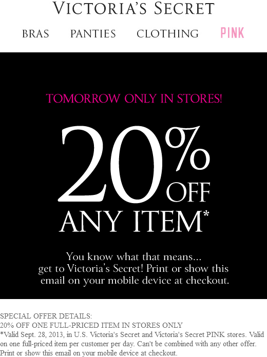 Pinned September 28th 20 off any item today at Victorias