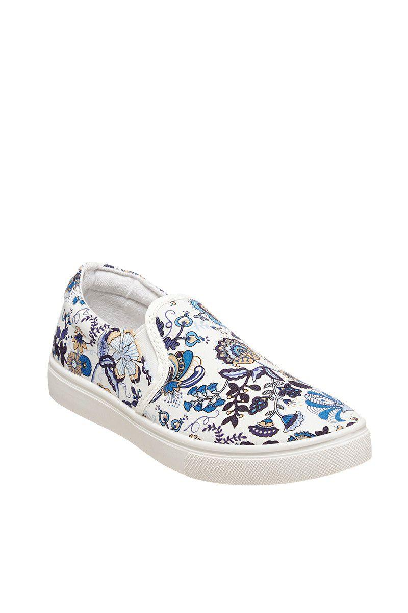 Venda Calçado / 29089 / Huran / Mulher / Slip-on Branco e azul