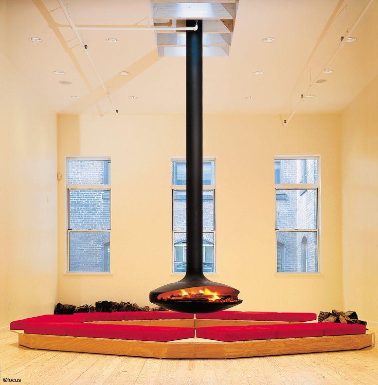 cheminee gyrofocus foyer suspendu pivotant, pour #feu ouvert à ...
