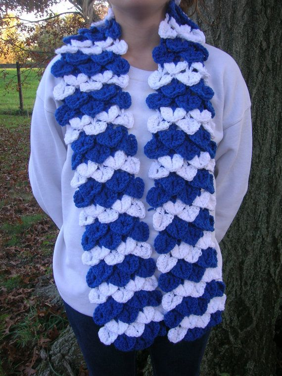 Indianapolis Colts Scarf Blue White Crochet by ALottaStitches ...